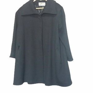 Gallery black wool car coat XXL